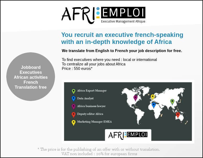 afri-emploi.com, executives jobboard AFRICA